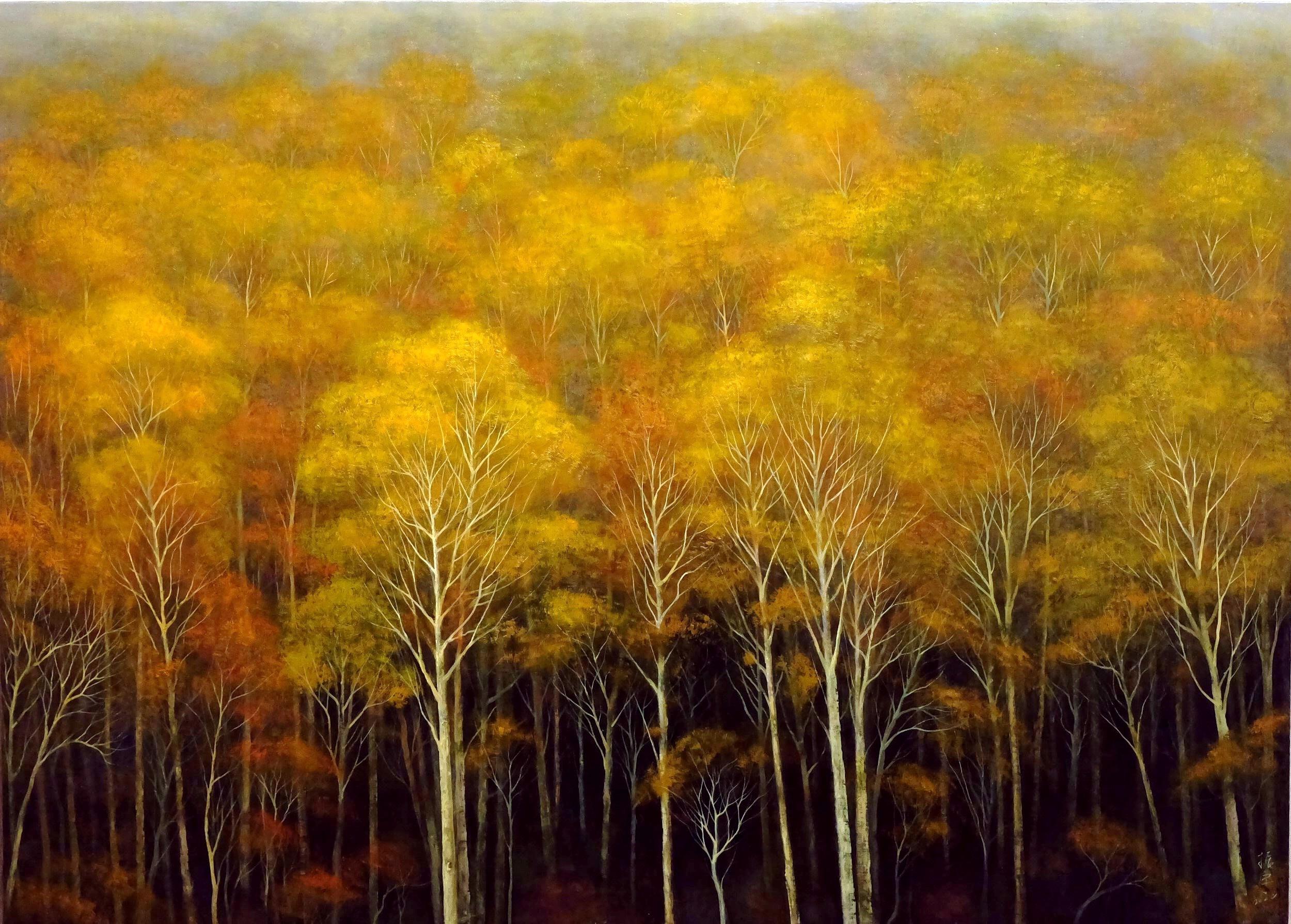 靜謐的秋樹林