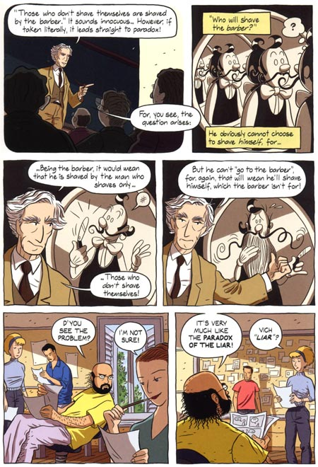 fig 7: Russell's Paradox p.165:  Logicomix  .