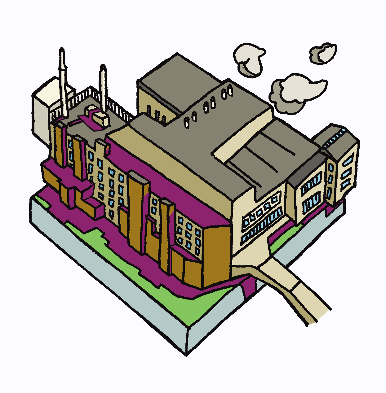 "fig.4:    ""Factory"": Carbon City Zero    (Manchester Metropolitan University) [Wip]"