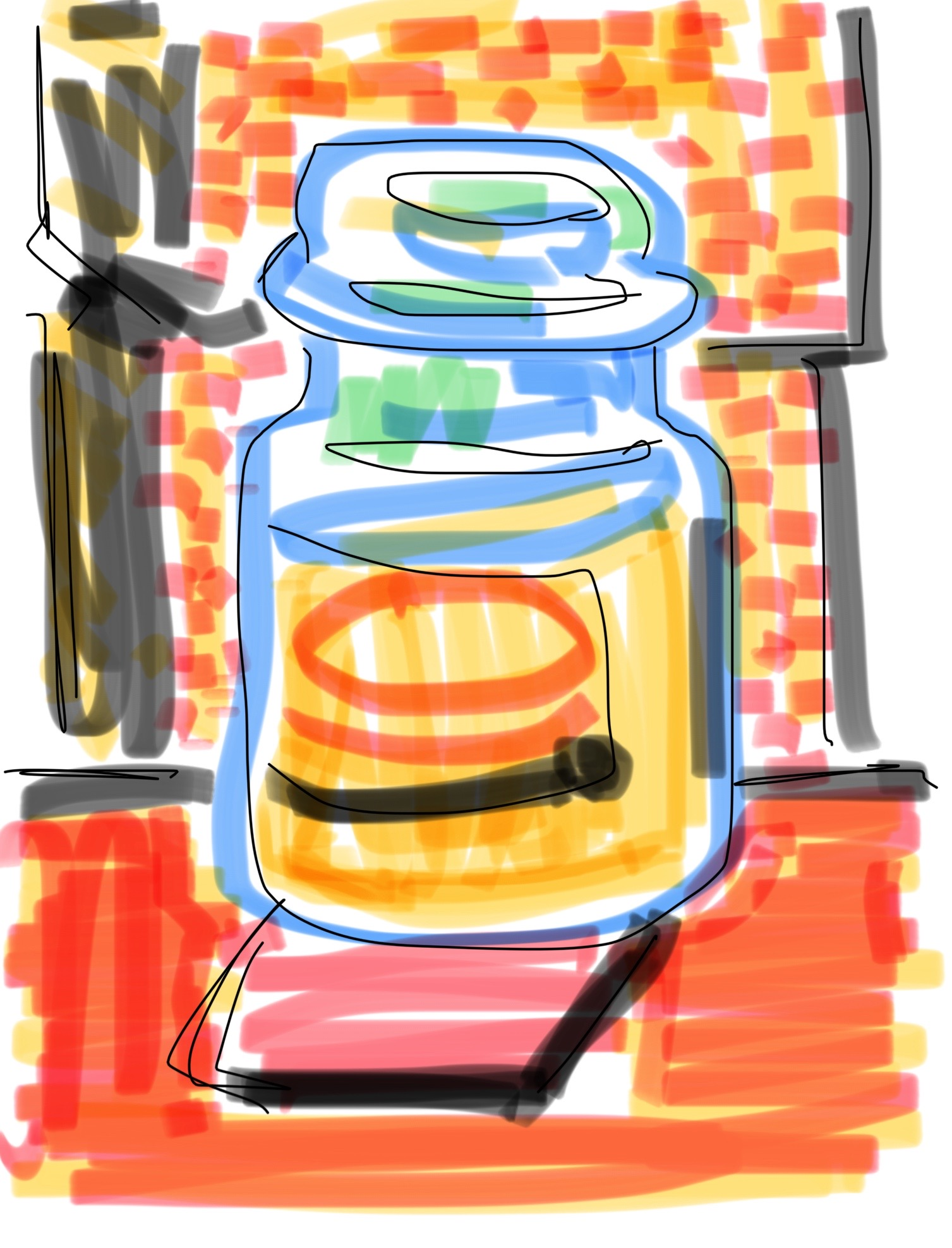 fig 3:    Candle Jar still life