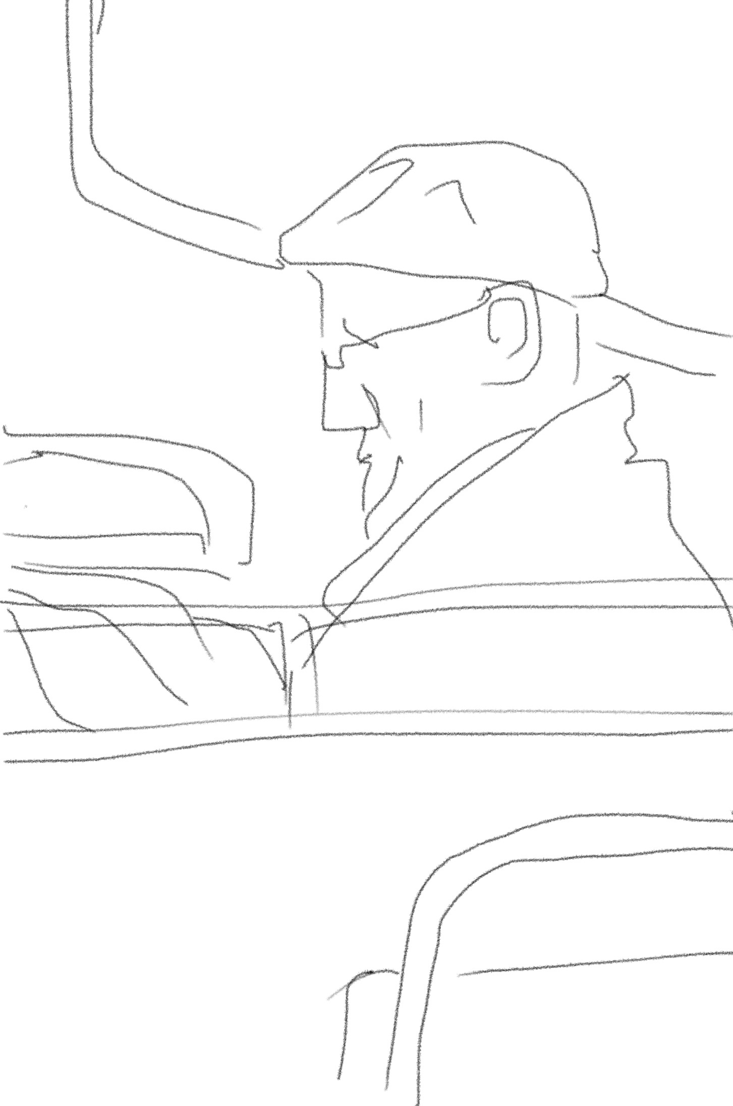 fig.4:    Commuter - man on train
