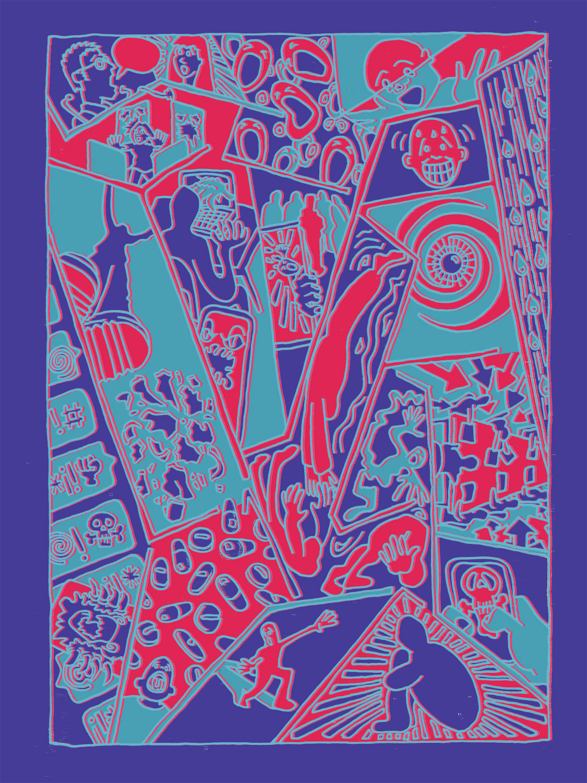 "fig.1 ""Mental Health/Escher"" WIP"