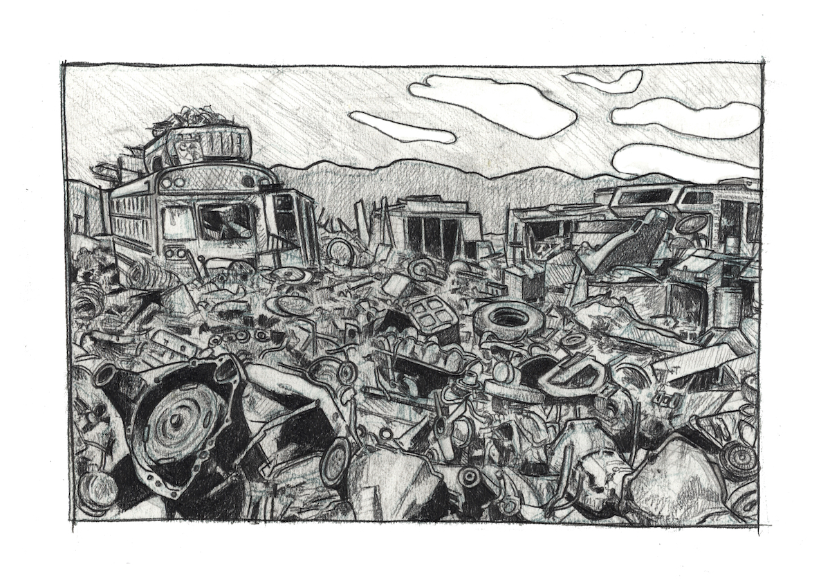 fig.1:    The Wasteland    [pencil on paper]