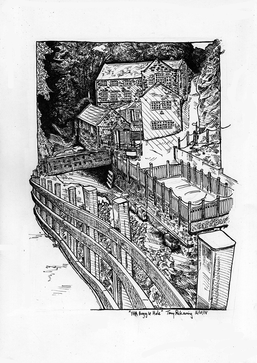 fig.2:    YHA Boggle Hole    [ink on paper]