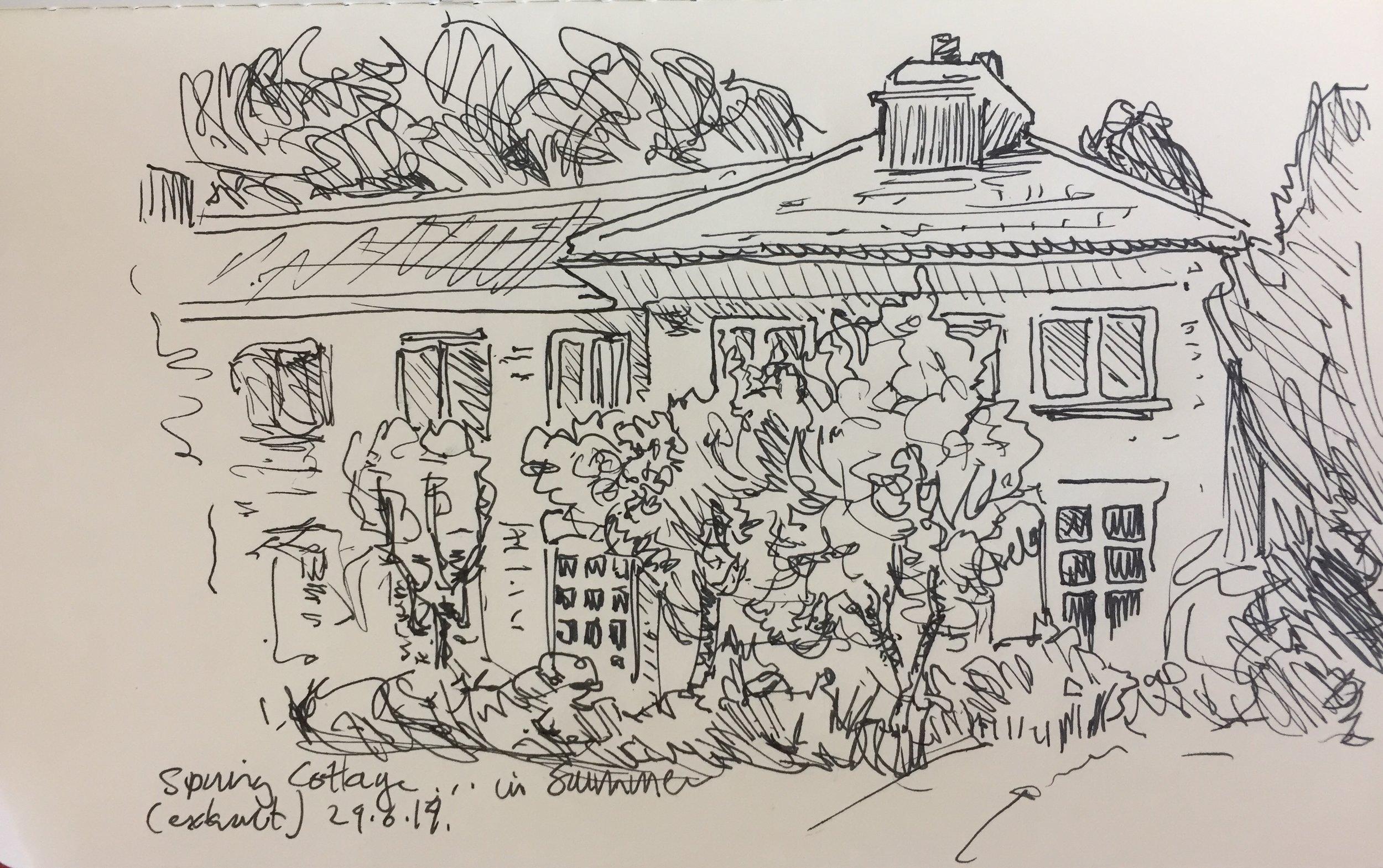 fig.6:    Spring Cottage    [pen on paper]