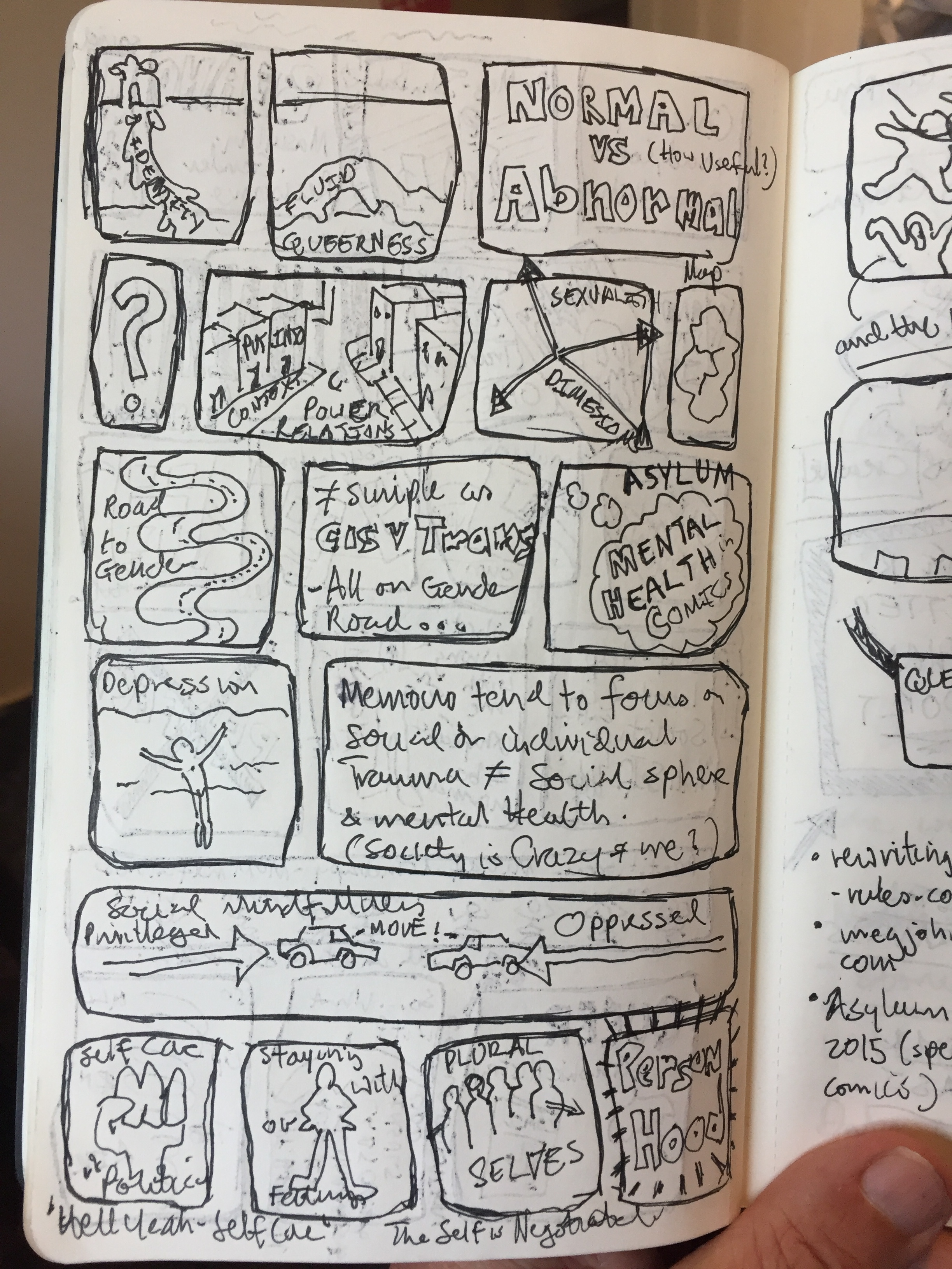 fig.1b:  Meg-John Barker:  Queer: A Graphic History (comics notes)