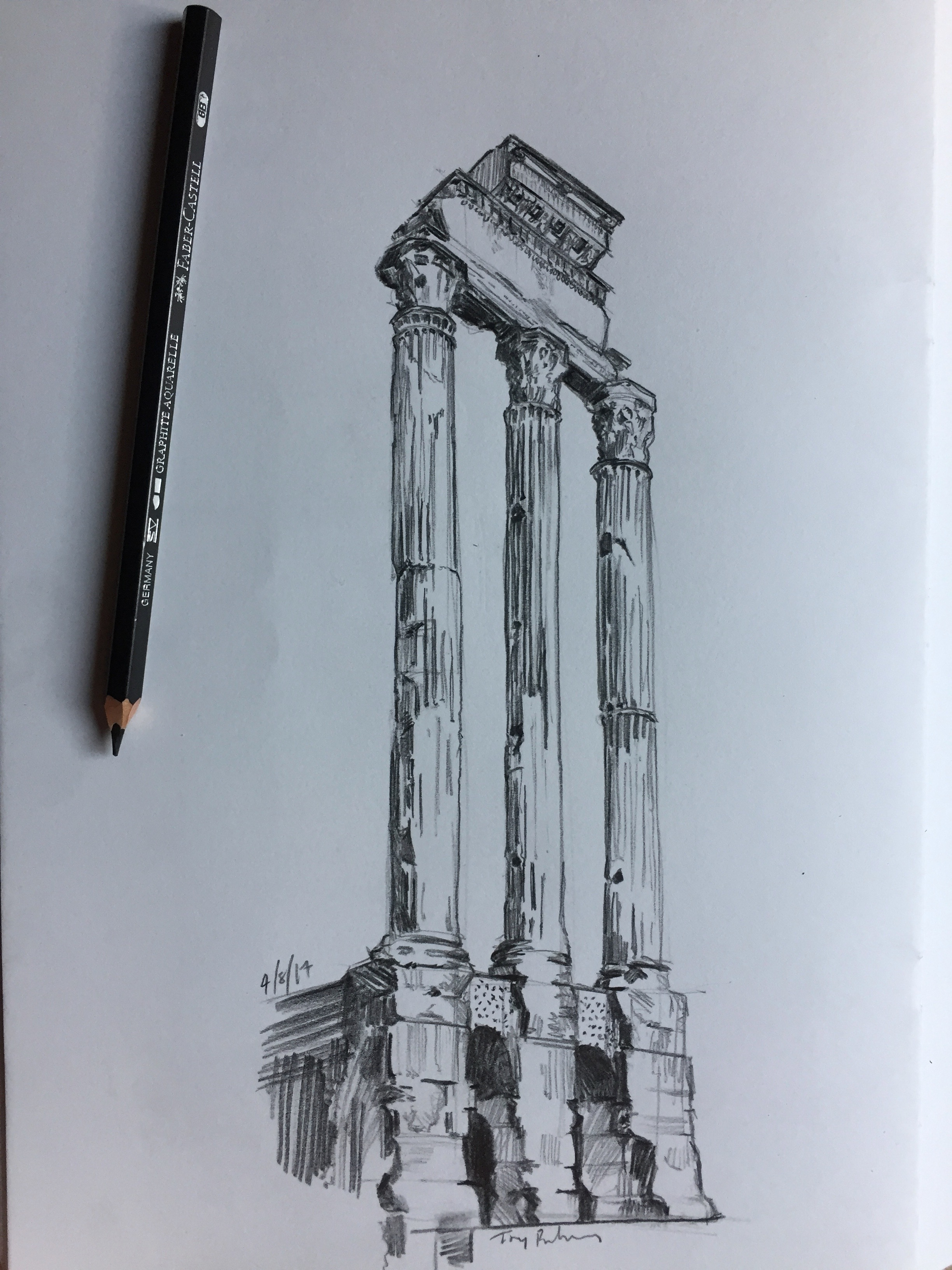 """fig.3:    """"The Temple of Castor and Pollux"""""""