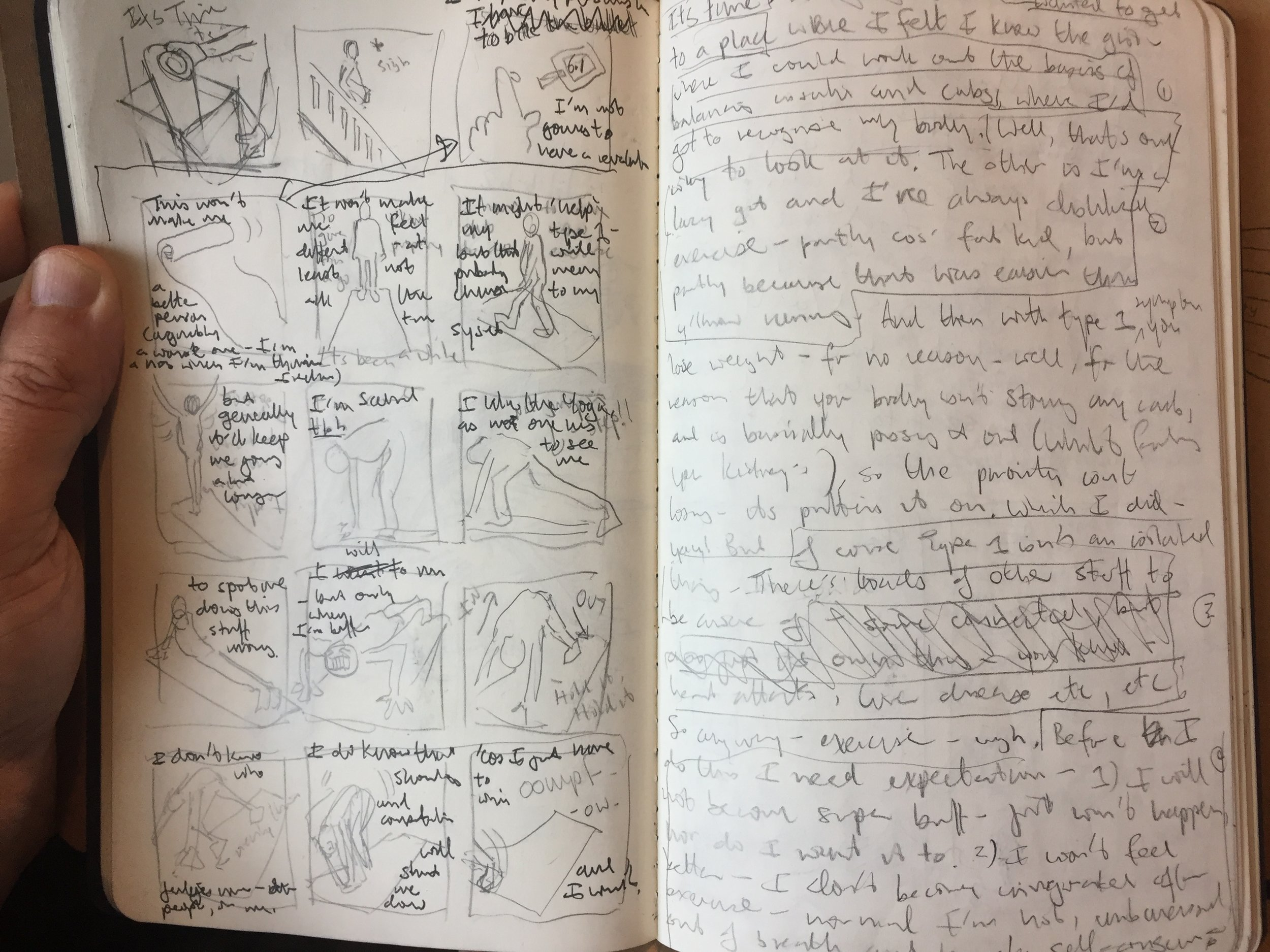 fig.3:    thumbnails and text
