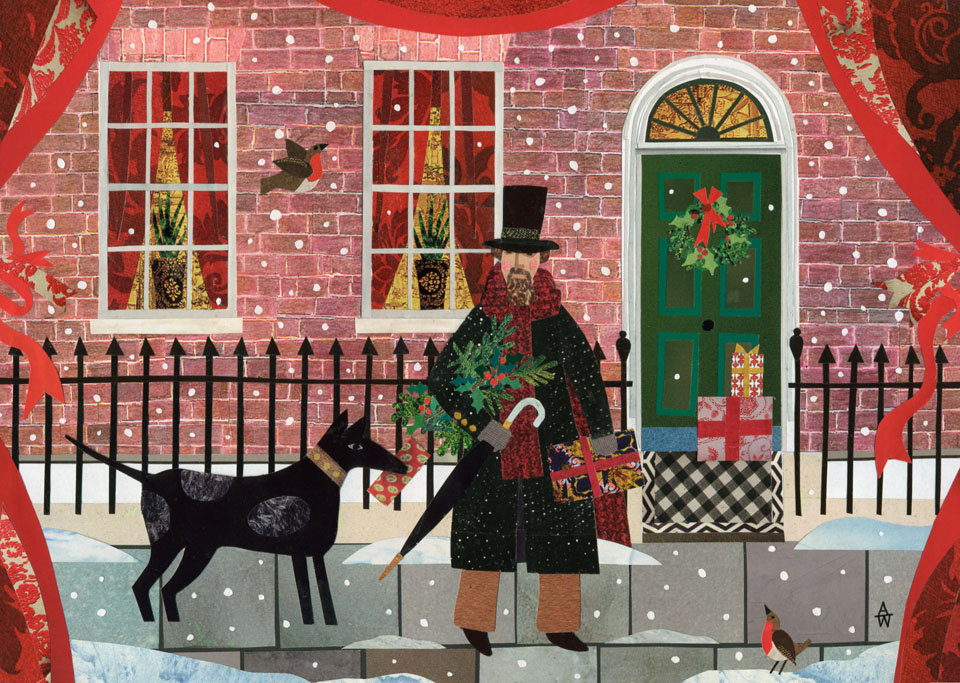Mr Dickens and his Dog in Doughty Street, Christmas Eve.