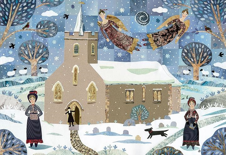 Jane and Cassandra Austen Walking to Steventon Church on Christmas morning.