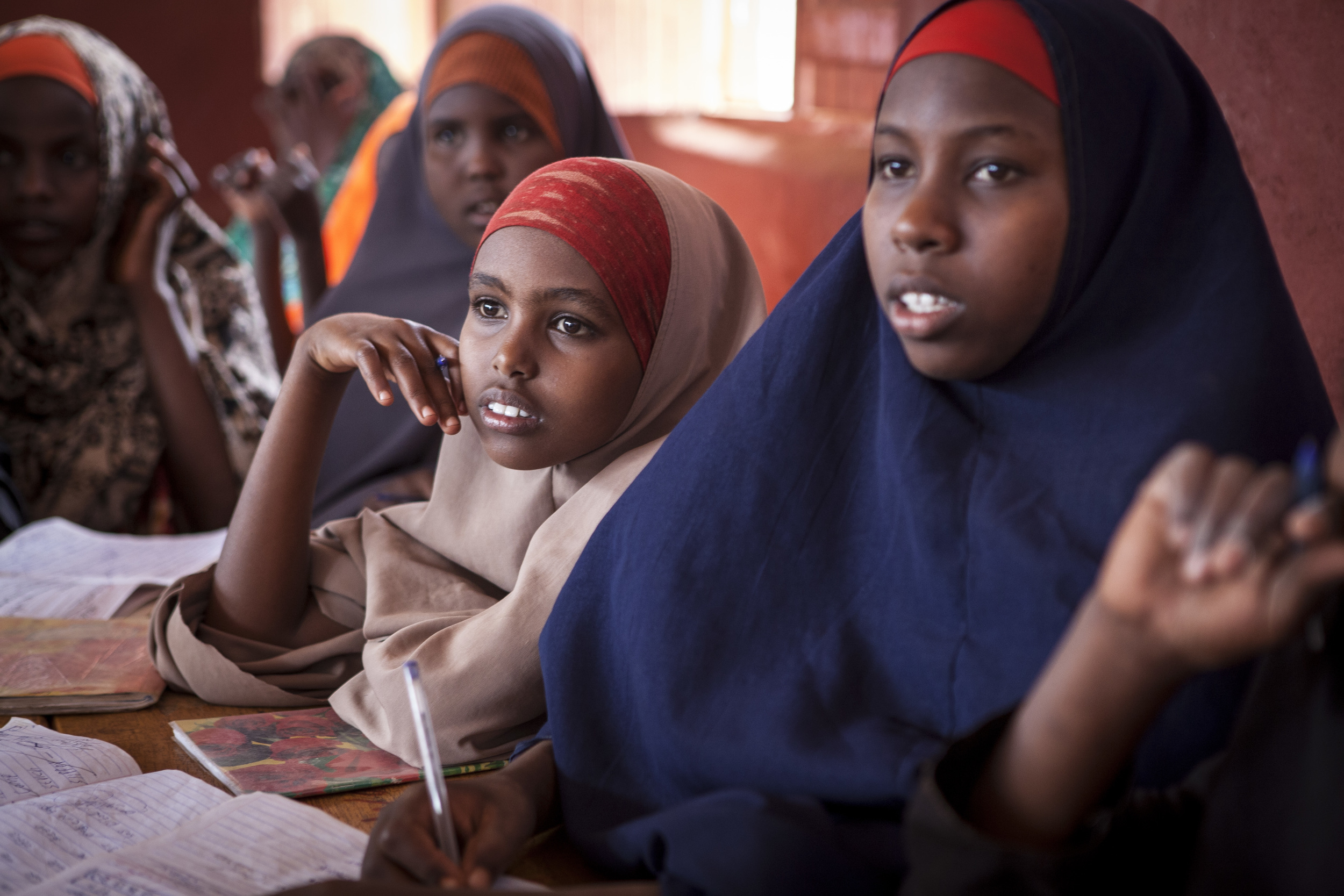 Somali refugees attending school in a refugee camp in Ethiopia.©Save the Children