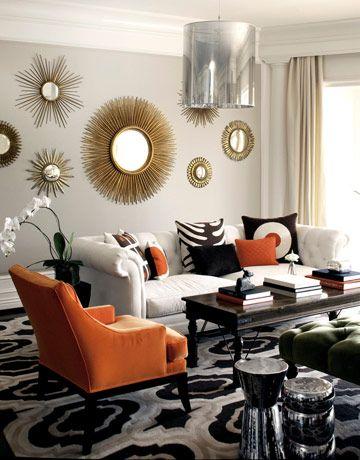 Orange in Living Room Photo (Source)