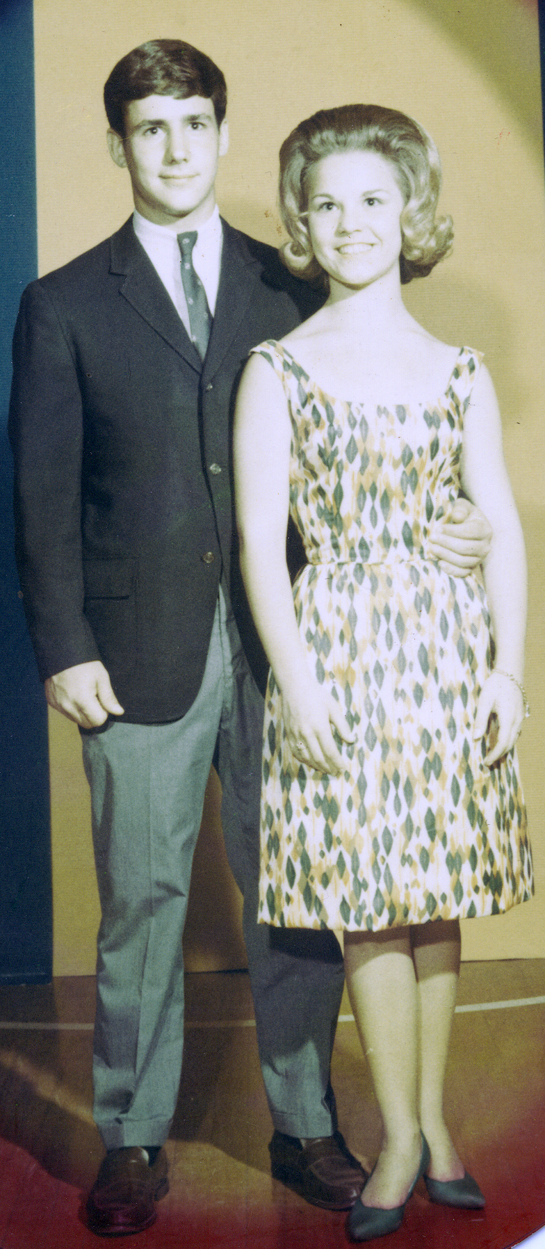 Mark Rogers & Mary Damon Akin on their first date in 1964