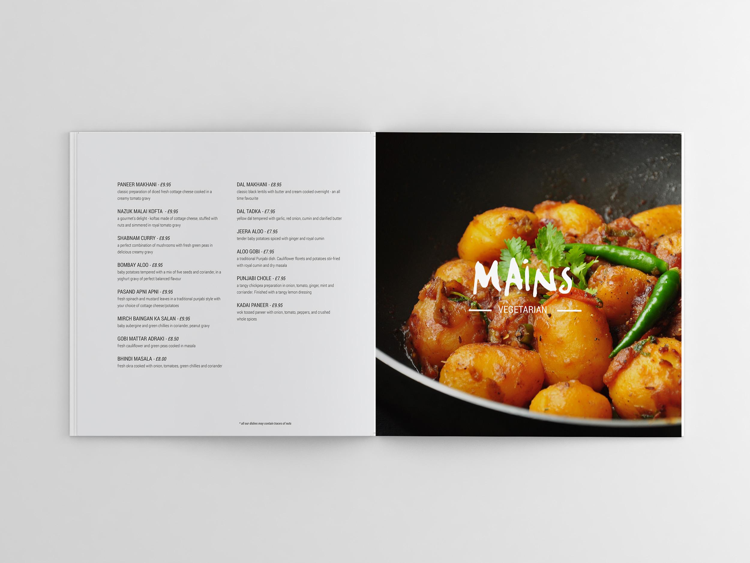indian restaurant menu