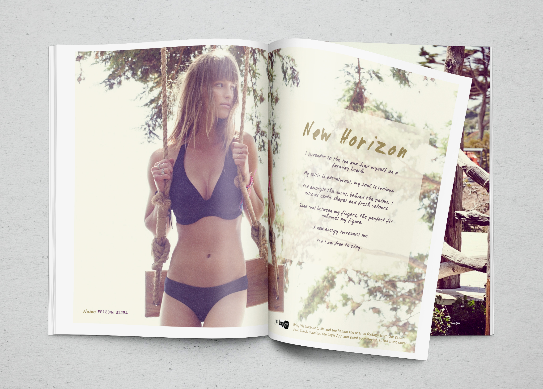Lingerie Swimwear Brochure Design