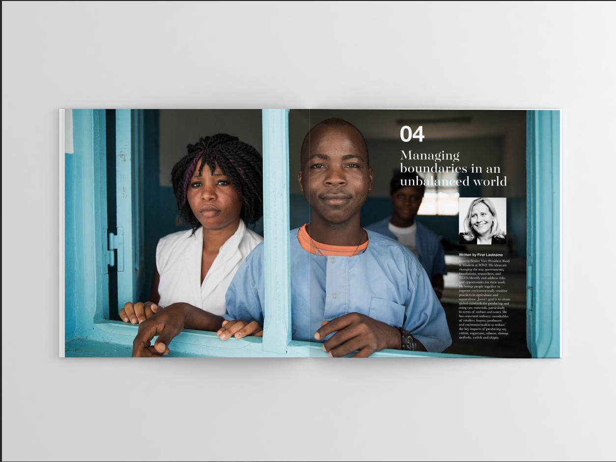 Annual report design for Olam International