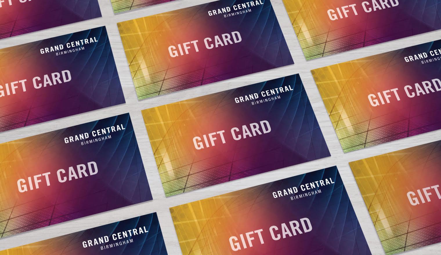 Gift Card Design for Grand Central Birmingham