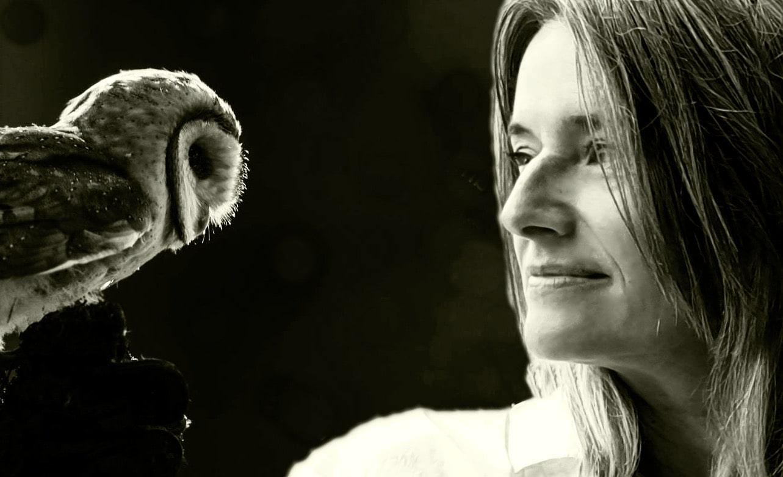 Jutta with Owl