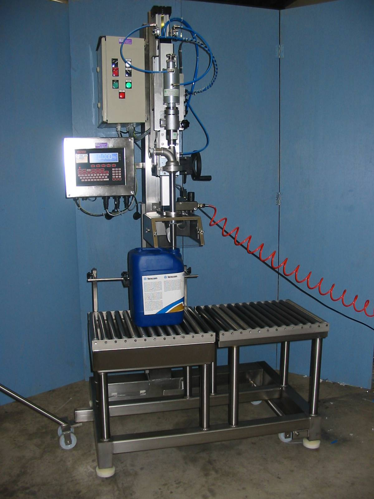 Semi-automatic can filling line