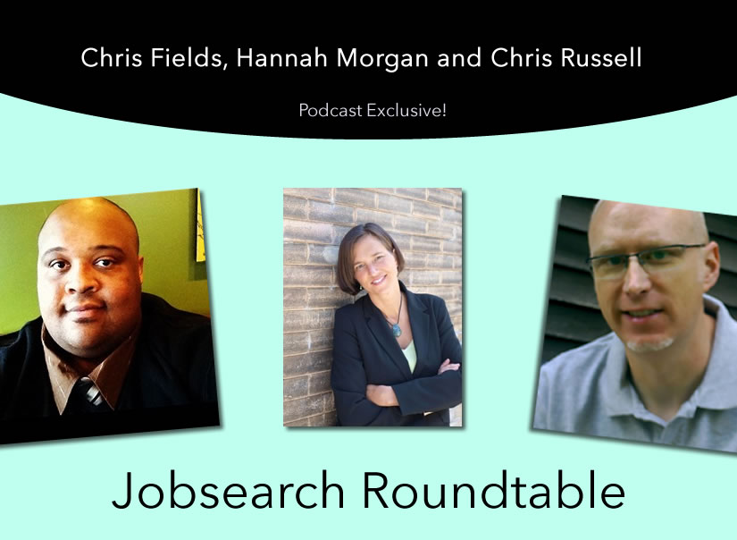Listen to this brand new podcast with @careersherpa @chrisrussell and @new_resource to hear about the job search market and more topics that are shaping today's job hunt