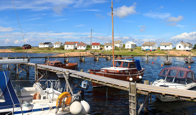 De karakteristiske sjøbuene på Saltholmen er i dag hytter.