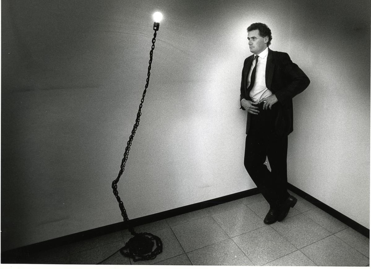 Ett av arbeidene som ble vist i utstillingen Meta Memphis ‒ Italiensk møbeldesign i 1990. Foto: Erik Wiggo Larsen
