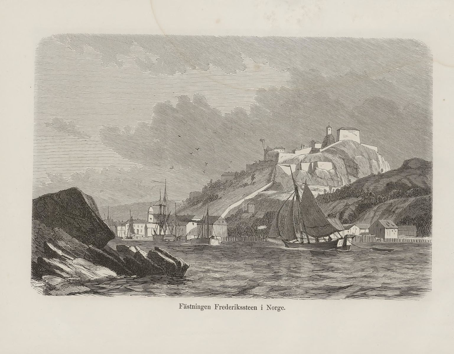 Festningen omkring 1868. Fra Nordiska taflor.