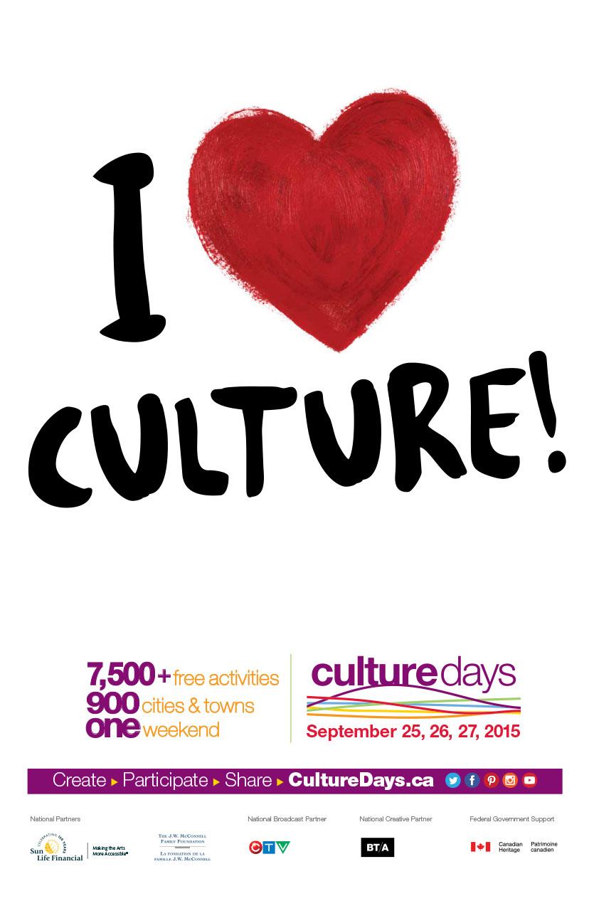CultureDays 2015 poster