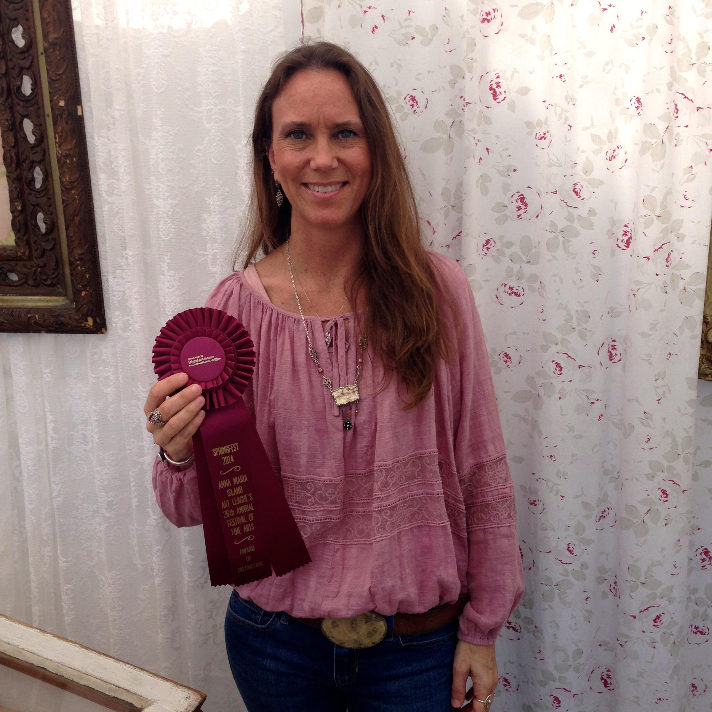 Won the Award of Distinction @ Anna Maria Island Art League's Festival of the Arts March 2014.