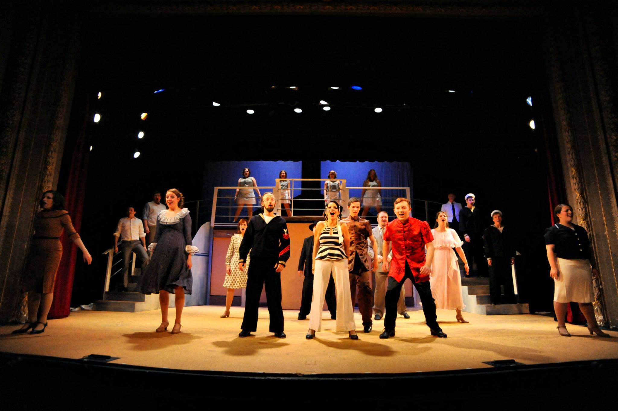 "Early Tech Rehearsal  ""Anything Goes"""