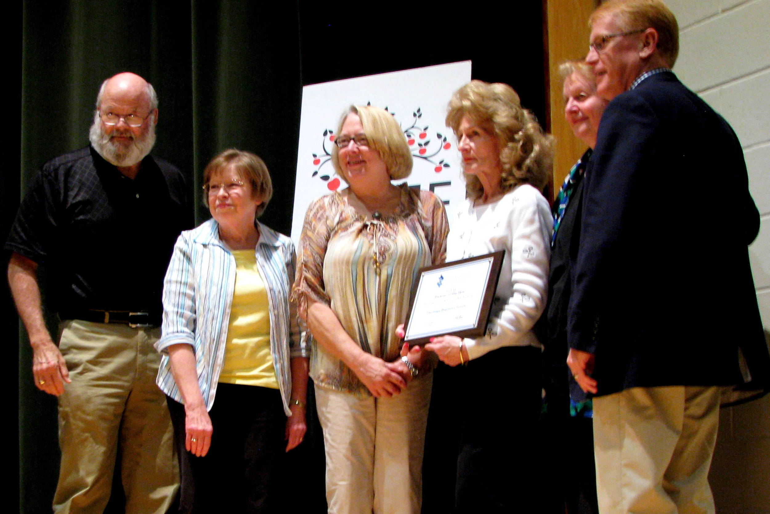 From left to right: Bob Smith, Mary Elizabeth Smith, Cathy Lacy, Kathy Summerford, Connie Denney and Cherokee County School Superintendent, Brian Hightower