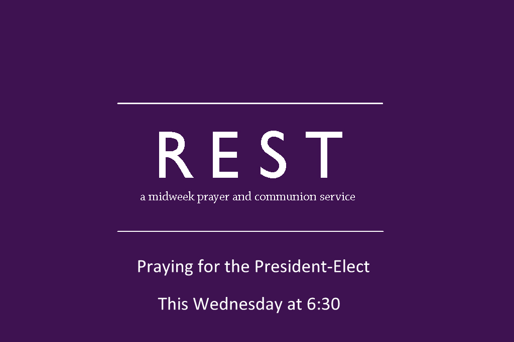 You can pray this prayer with us in person on Wednesday at 6:30. I hope you will.