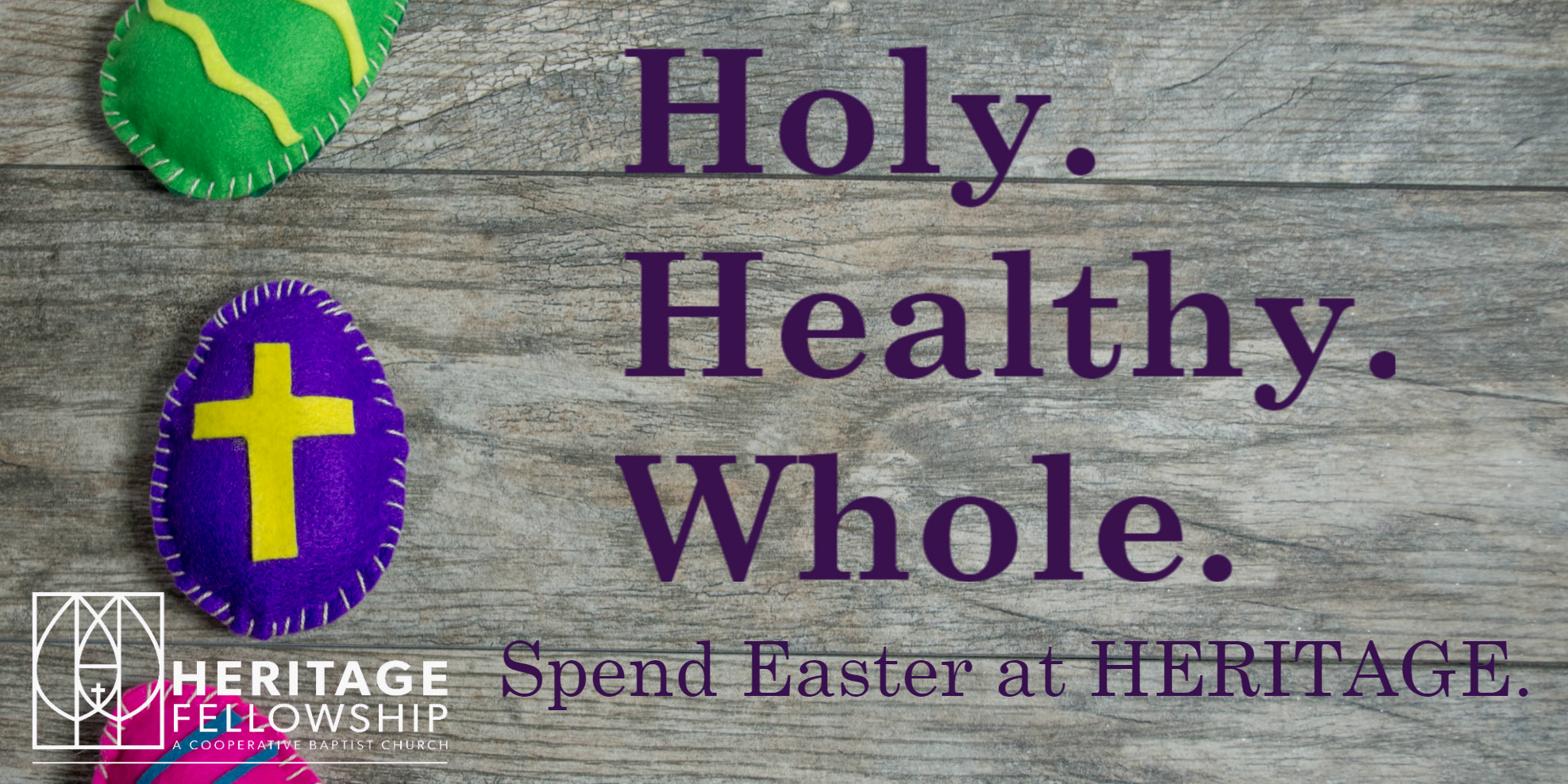 Click on the picture to learn more about Easter at HERITAGE.