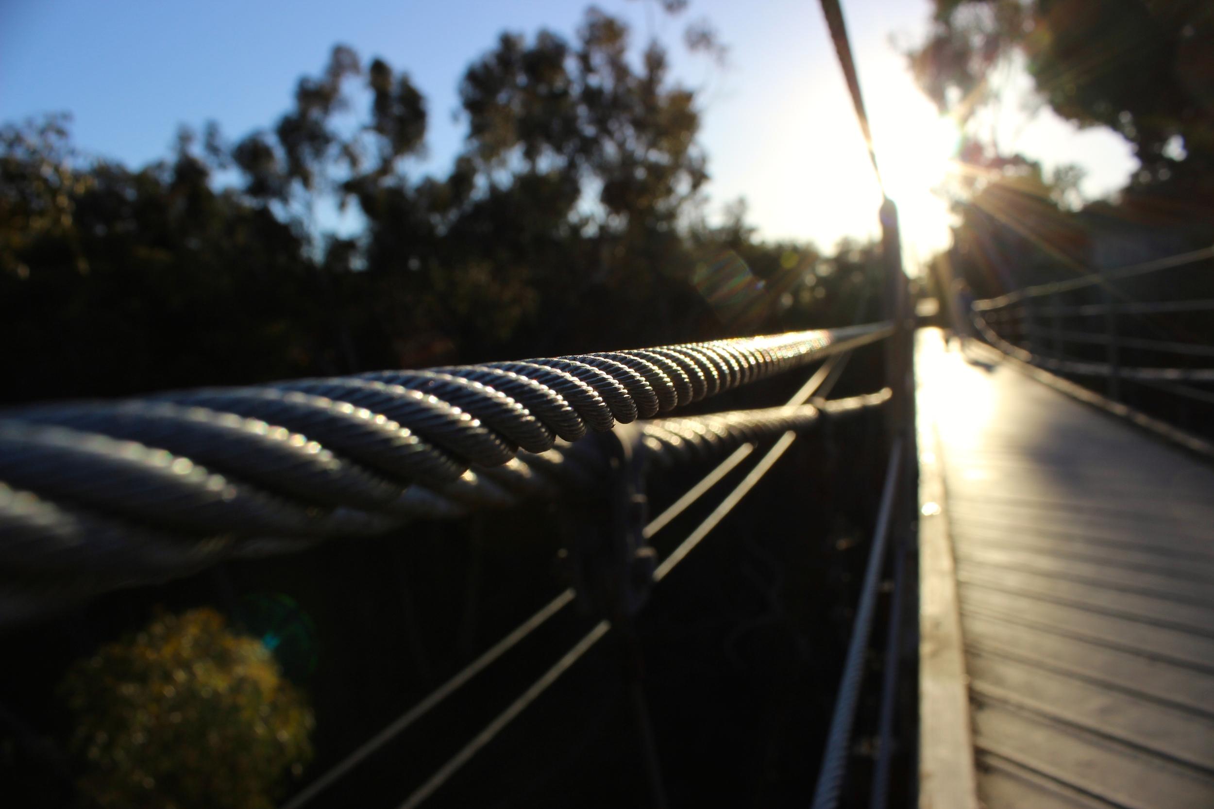 GLIMPSE OF SUSPENSION BRIDGE