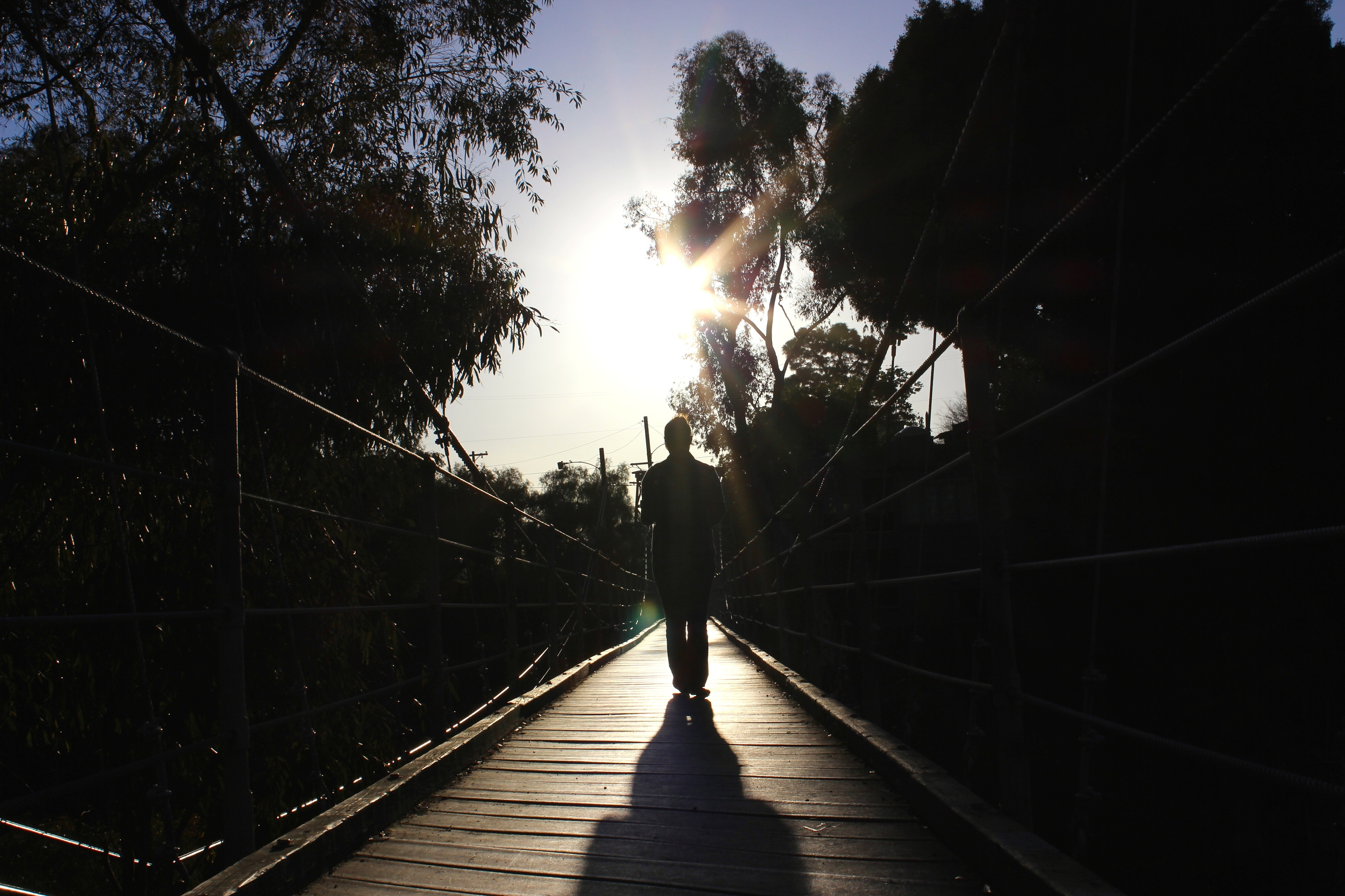 SUSPENSION BRIDGE SUNSETTING