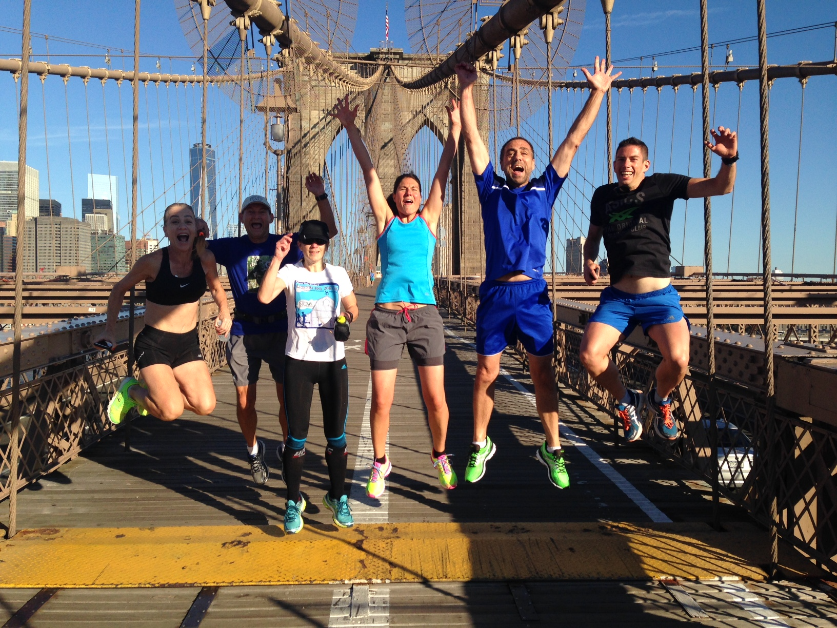 Get the team together experience some of NYC's most iconic neighborhoods and places. This group is pictured on the Brooklyn Bridge.