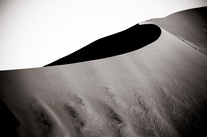 Giant sand dune in Namibia.