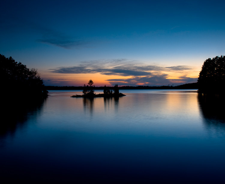 Burntside Lake, Ely, MN - Photographed after Sunse   t