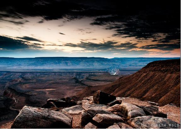 Fish River Canyon, Namibia - Photographed after Sunset