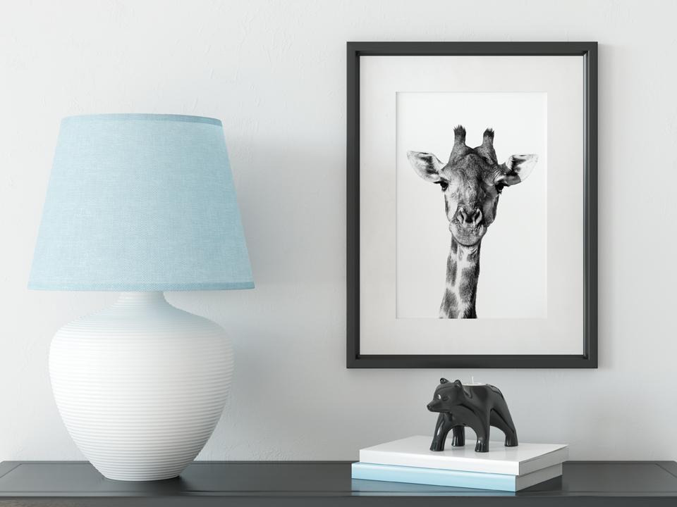 Giraffe photograph for kid's room.