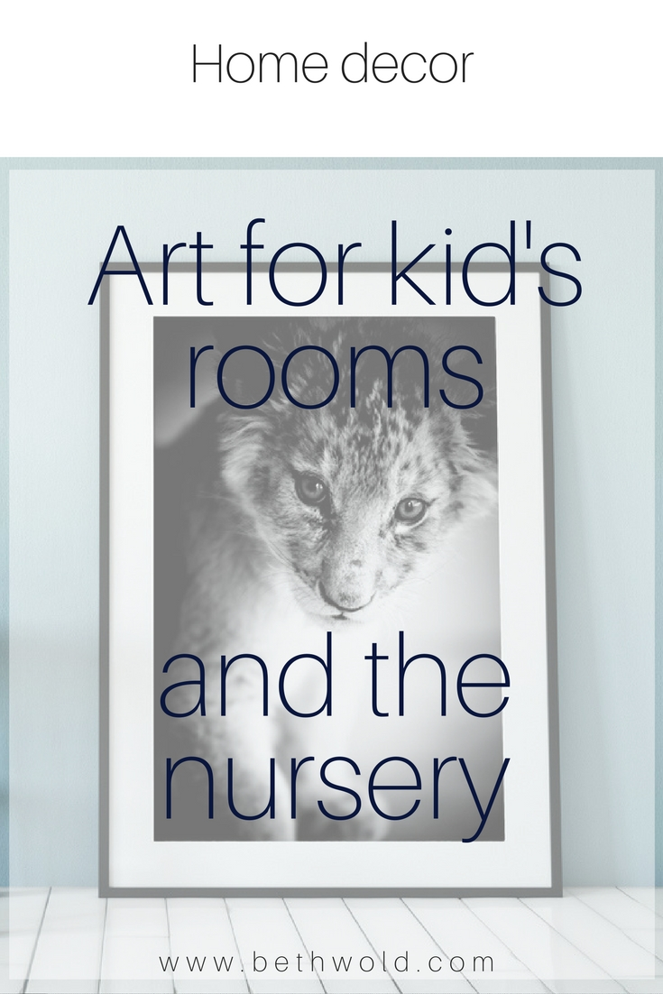 Lion cub photograph, perfect for a kid's room!