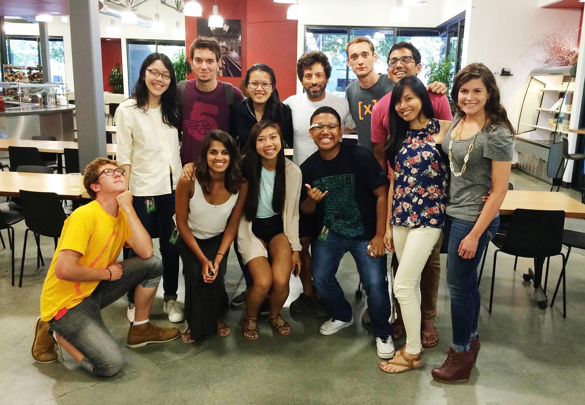 UX Design interns with Google co-founder Sergey Brin.