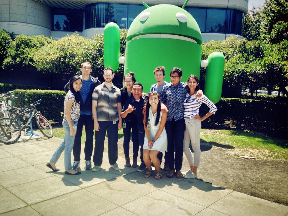 UX Design interns with  Matias Duarte, VP of Design, Android,