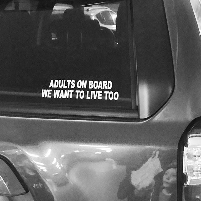 Some funny for Friday! Can't we all just drive nice? #bumpersticker #winning #fridayfunny #slc #reflection