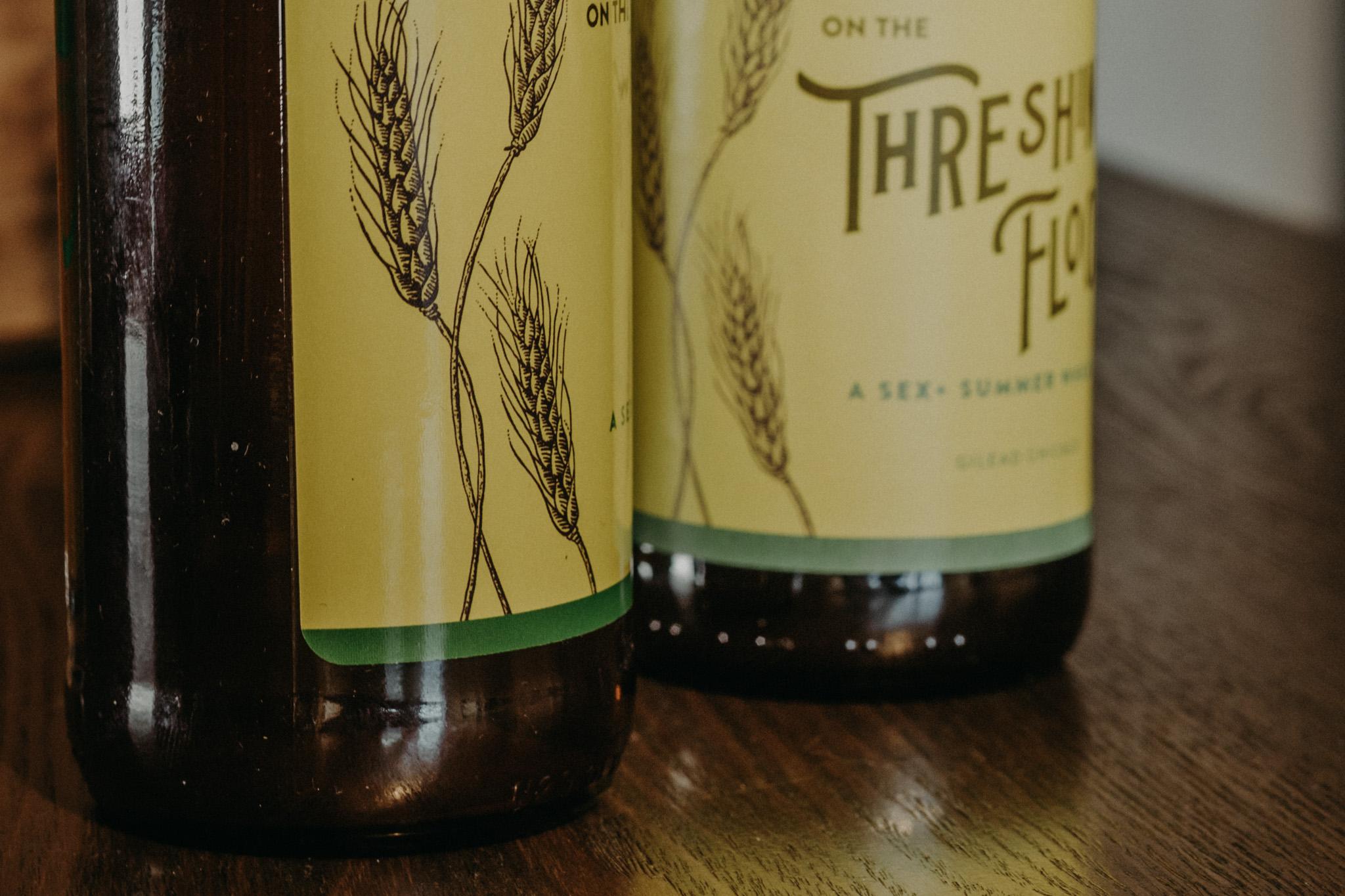 wheat beer label design