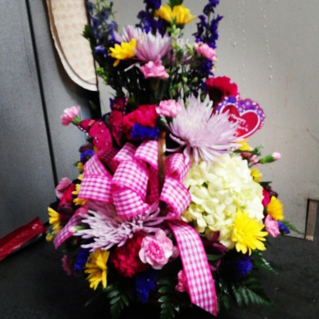 "Mother's Day is Sunday but it's never too early to say ""I love you,Mom!"" Call and get an arrangement sent today! 868-0128"