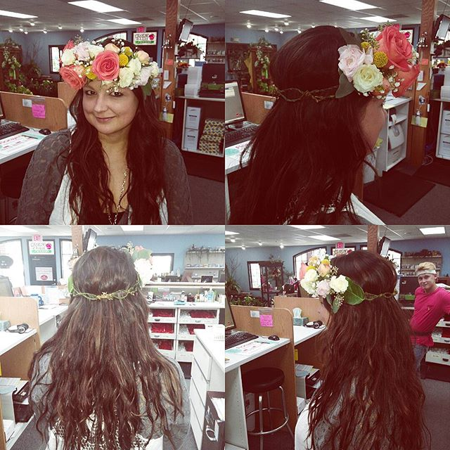 We LOVE floral crowns!!! Who is getting married and needs one?? :)
