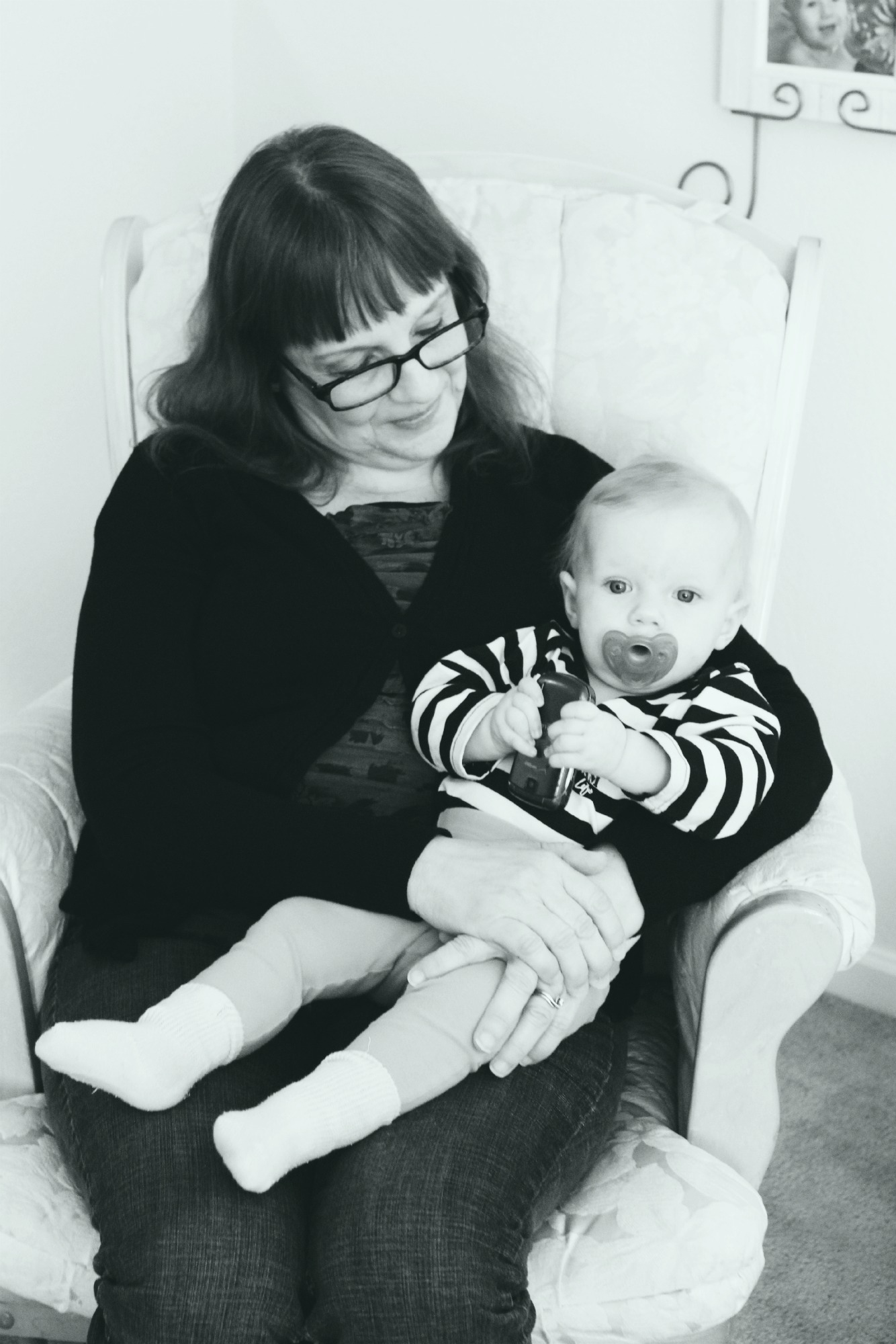My mom and her first grand baby. She doesn't like to be in pictures ya'll so I never get pictures with her and I. ;)
