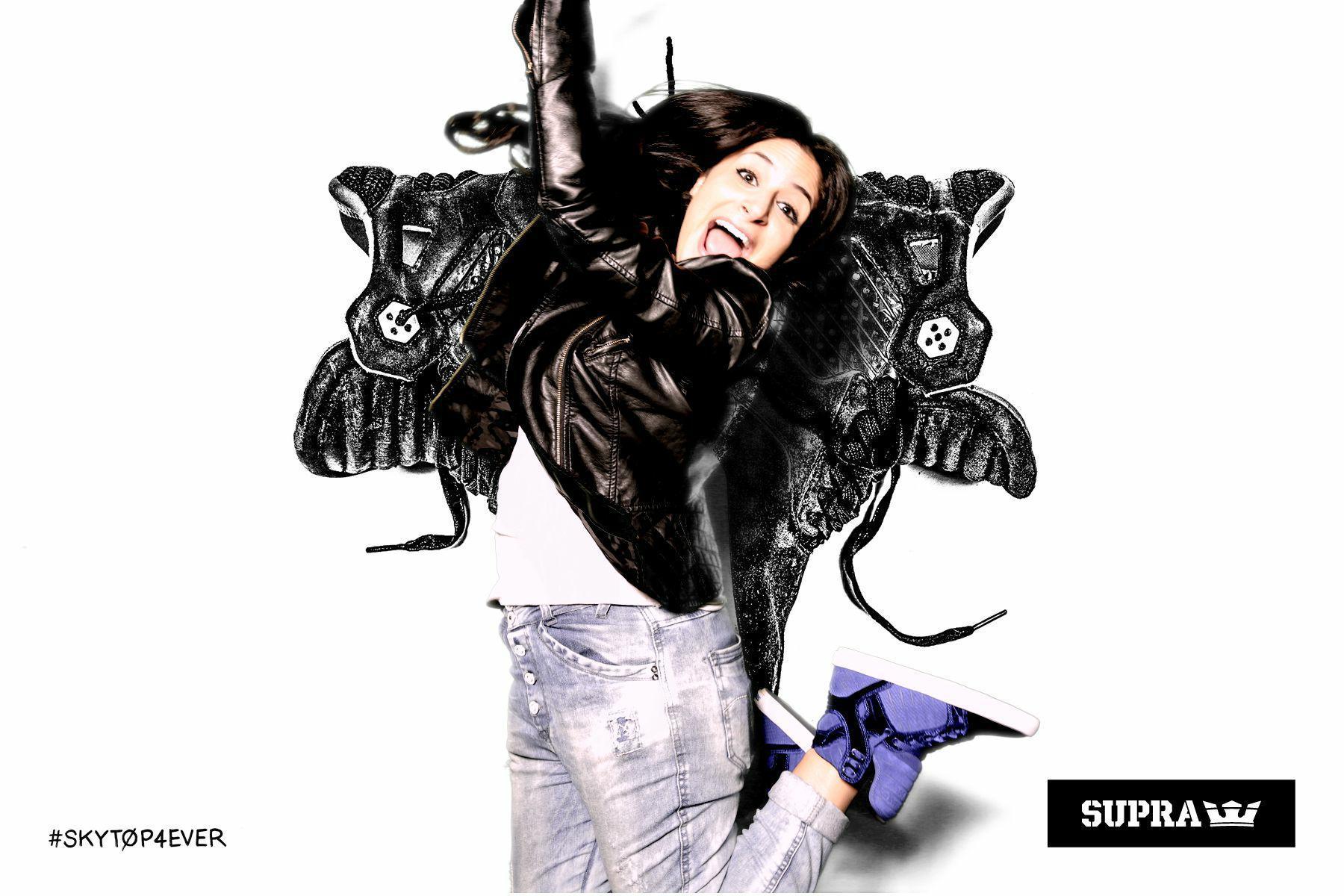 Supra Skytop Royal Blue Velvet