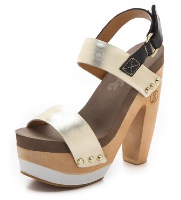 Flogg Rexfort Metallic Platform Clog Sandals.jpg